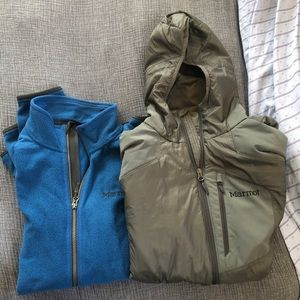 Men's marmot blue fleece size XL